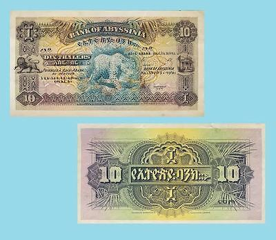 Abyssinia Ethiopia 10 Thalers ND UNC - Reproductions