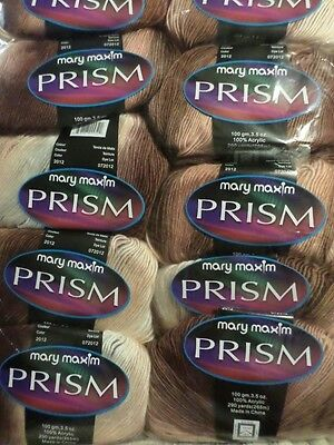 """Mary Maxim Prisim Variegated Roving """"Sandy Shores"""" Yarn - Price is for 1 skein"""