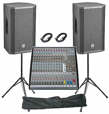 "Studiomaster Venture 2400W, 15"", 16 Channel Active Live Band PA System"