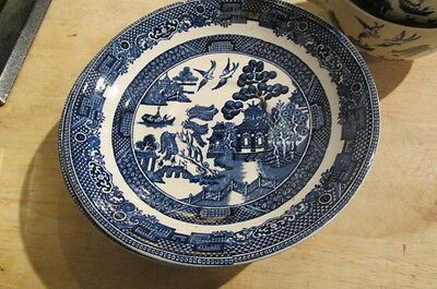 Very Old Ridgway & Johnson Brothers England Blue Willow China Lot
