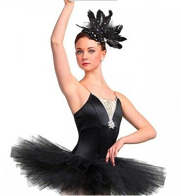 New In Package Ballet Black Short Adult Medium Curtain Call M Dance  Costume