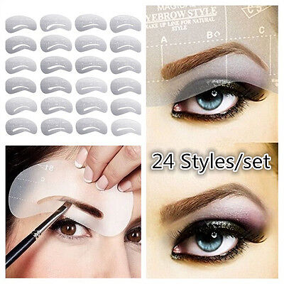 24pcs DIY Augenbrauen Schablonen- Eye Brow Shaping Eyebrow Stencil Makeup