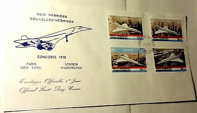 Concorde New Hebrides Nouveles-Hebrides Official Cover...first Day Cover