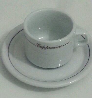NAAMAN FINE PORCELAIN ISRAEL Tea Cappuccino Cup With Saucer Plate