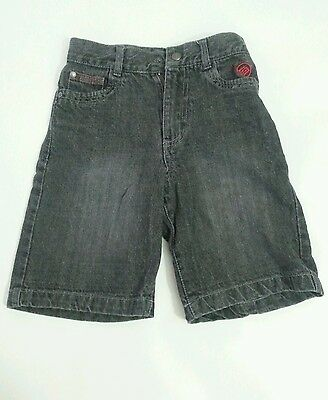ENYCE Boy's Shorts Color Size 7x Black Stone-Washed 100% Cotton