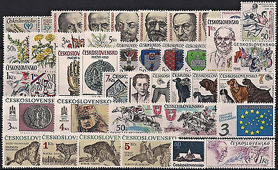 Czechoslovakia 1990, Complete Year Set Stamps + Sheet, **mnh**