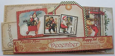 Journal Kit  -CHRISTMAS CHEER- Graphic 45 Chipboard Picture Card Embellishments