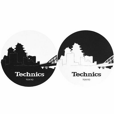 Slipmat Factory Technics Tokyo Skyline Slipmats (pair, black & white)