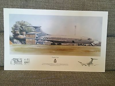 """Vickers VC10 Print """"Engine Test"""" Royal Air Force"""