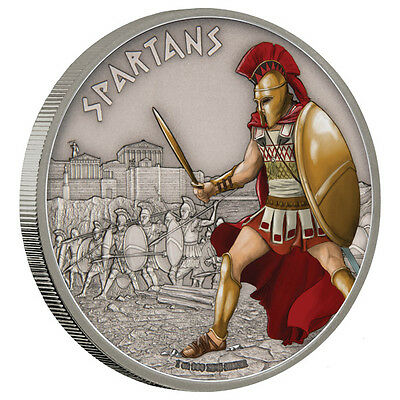 2016 Warriors of History - Spartans 1oz Proof Silver Coin