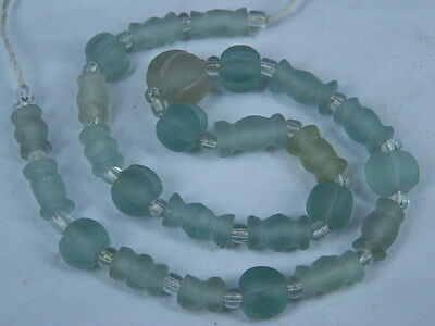 Ancient Glass Beads Strand Roman 200 BC      #BR1819