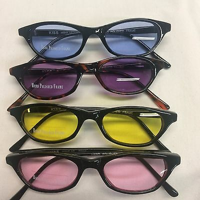 4 pc. Lot Vintage NOS Unisex Small Hipster Sunglasses as Pictured UV400 #P56