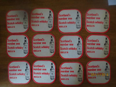 12  X  BELL,S  SCOTCH WHISKY 1990,s Issue collectable COASTERS No 1