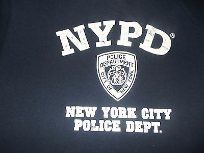 Authentic NYPD tee t shirt.  XLARGE.