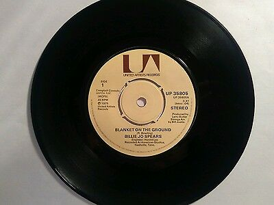 """Billy Jo Spears - Blanket on the Ground / Come on Home  (7"""" vinyl 1975)"""