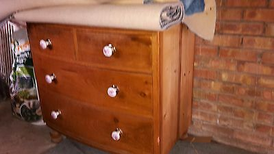 Antique Pine Bow Fronted Draws