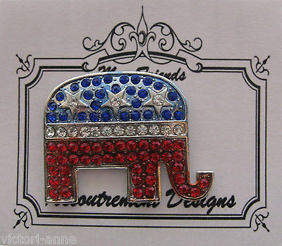 Accoutrement Designs Republican Elephant Needle Minder Magnet Pin Brooch