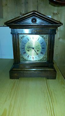 Antique Victorian Bracket Clock in Oak,