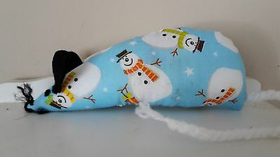 Christmas Catnip Mouse -  Snowman design - Handmade Cat Toy  X Strong Catnip