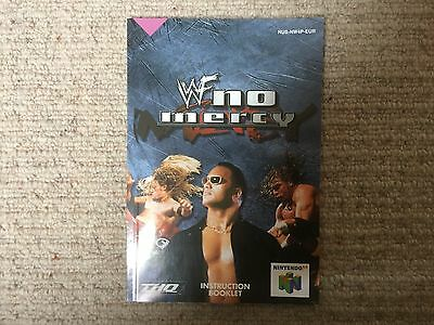 WWF No Mercy - Nintendo N64 Instruction Manual Only
