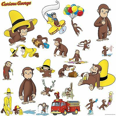 RoomMates Children's Repositonable Wall Stickers Curious George