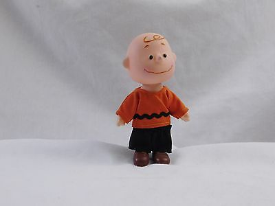 Vintage Charlie Brown Toy Figure With Cloth Clothing.