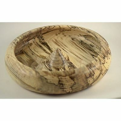 Dramatic Hand-Turned Spalted Hackberry Bowl