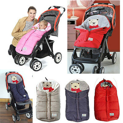 Baby Pram Stroller Pushchair Cot Bed Car Seat Footmuff Sleeping Bag Blanket Cosy