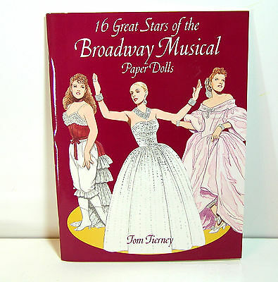 16 Great Stars Of The Broadway Musical Paper Dolls By Tom Tierney, Dover Book