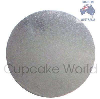 """New! 7"""" Pack Of 5Pc Silver Round Cardboard Cake Boards For Craft Cakes Cupcakes"""