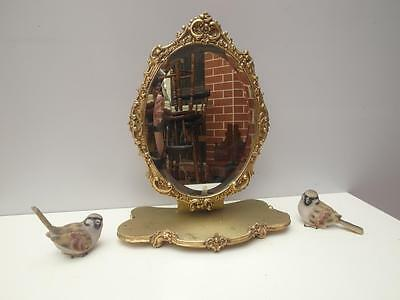 Antique GOLD Carved ORNATE Tabletop SWIVEL Vanity MIRROR Adelaide