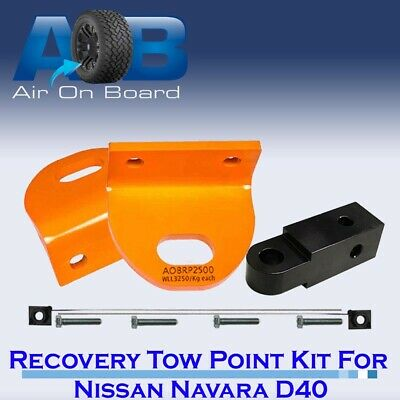 Recovery Tow Points Kit for Nissan Navara D40 with REAR RECOVERY HITCH
