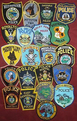 Set of 21 different Pennsylvania PA Police Patches