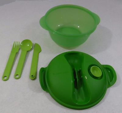 Tupperware Vented 6.25 Cups Lunch Bowl With Plastic Utensils