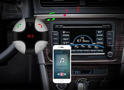 Wireless Bluetooth FM Transmitter Handsfree Calling MP3 Player TFCard USB Charge