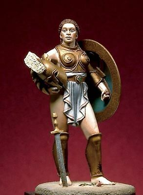 Pegaso Models 54mm Amazon with Long Sword White Metal #54-120