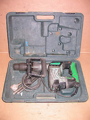 Hitachi H 45MR SDS Max Demolition Hammer with 3 Bits and Case Construction Demo