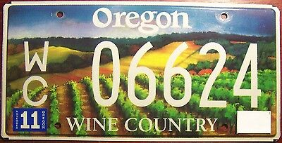 2000s OREGON WINE VINEYARD COUNTRY VITICULTURE SPECIALTY LICENSE PLATE AUTO TAG