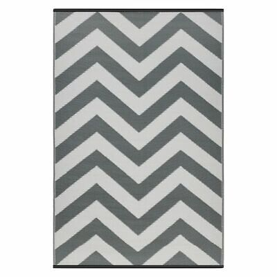 NEW FAB Rugs Laguna Chevron Plastic Outdoor Rug in Blue, Grey, Multi-Coloured