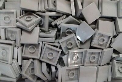 *NEW* Lego Bulk Light Grey 2x2 Flat Tiles Plates House Floors Building 25 pieces