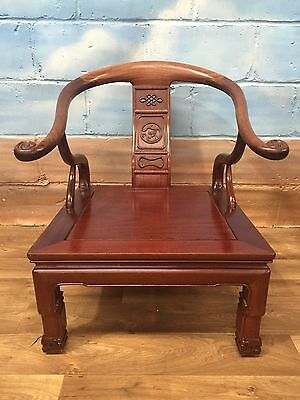 Stunning Chinese Antique Rosewood Horseshoe Chow Chair