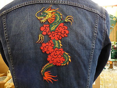 GRAND ECUSSON PATCH THERMOCOLLANT DRAGON animal nature force oriental muay thai