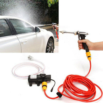 12V 80W High Pressure Washer Wash Pump Kit Marine Deck Car Campervan Sprayer