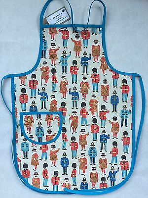 Cath Kidston Guards And Friends Cotton Duck Handmade boys Apron 3-7 Yrs