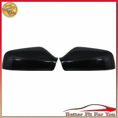 2x WING DOOR Black MIRROR COVERS FOR VAUXHALL OPEL ASTRA G 1998-2005