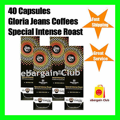40 Capsules Gloria Jeans Coffee Special Intense Roast Pod Caffitaly System