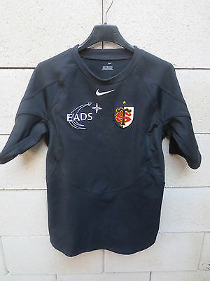 Maillot moulant STADE TOULOUSAIN Nike shirt rugby noir M Toulouse