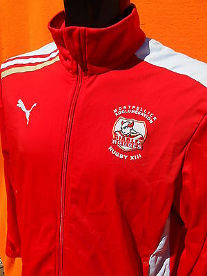 DIABLES ROUGES Jacket Veste Chaqueta Puma Montpellier XIII Rugby League Team 13
