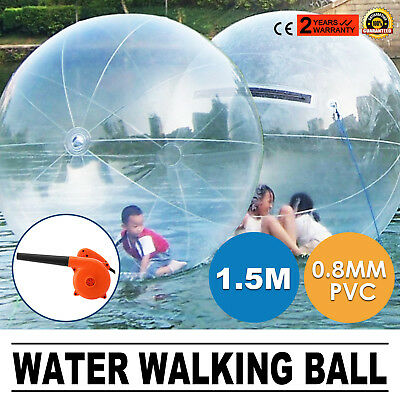 1.5m Water Walking Walker Ball Inflatable PVC Zorb Ball Tizip zippe Sealeding