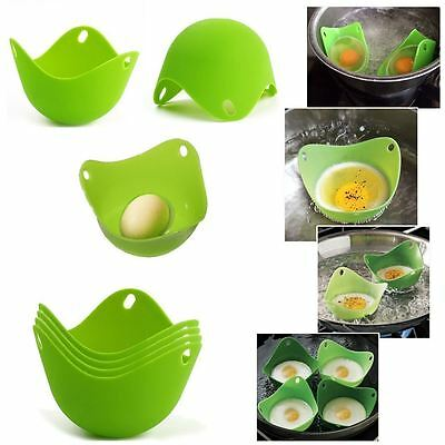 1PC Silicone Egg Poacher Poach Poaching Kitchen Poached Cup Pods Pan Mould Tool